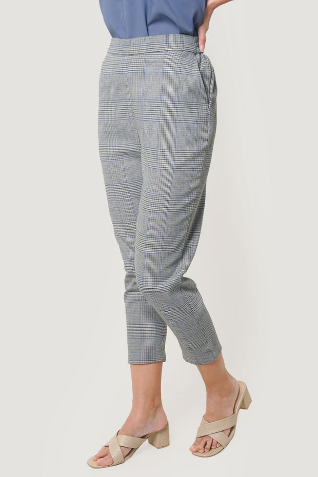 Checked Pull Up Trousers