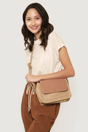 Two Tone Flap Bag