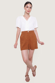 REFORME High Waist Pull Up Shorts