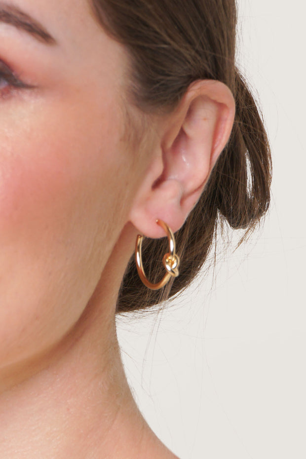 Knot Hoop Earrings