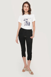 Mademoiselle Mixed Print Graphic Tee