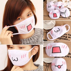 Face and Mouth Mask White