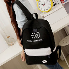 Load image into Gallery viewer, EXO backpack college bag Black