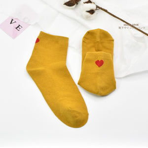 Simple Heart Stripe Socks