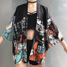 Load image into Gallery viewer, Kimono Style Vintage Shirt Jacket Black 2