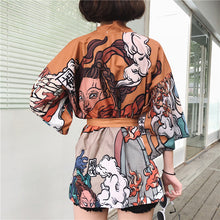 Load image into Gallery viewer, Kimono Style Vintage Shirt Jacket Amber 1