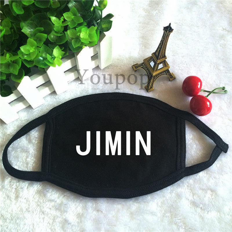 BTS Member Name Cotton Face Mask