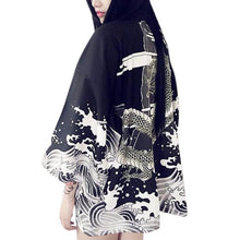 Load image into Gallery viewer, Kimono Style Blouse Jacket Black