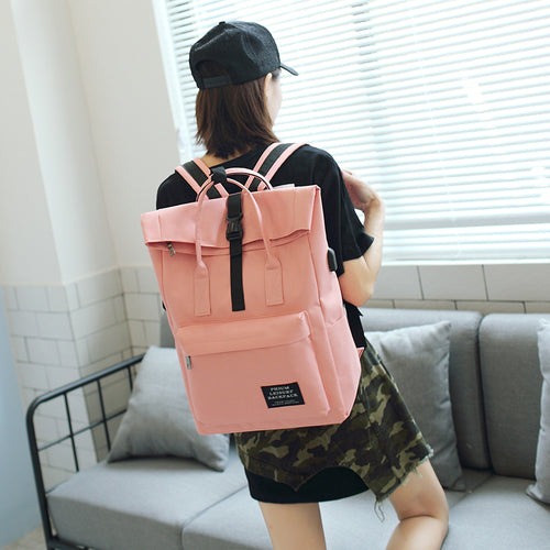 College Laptop USB Backpack