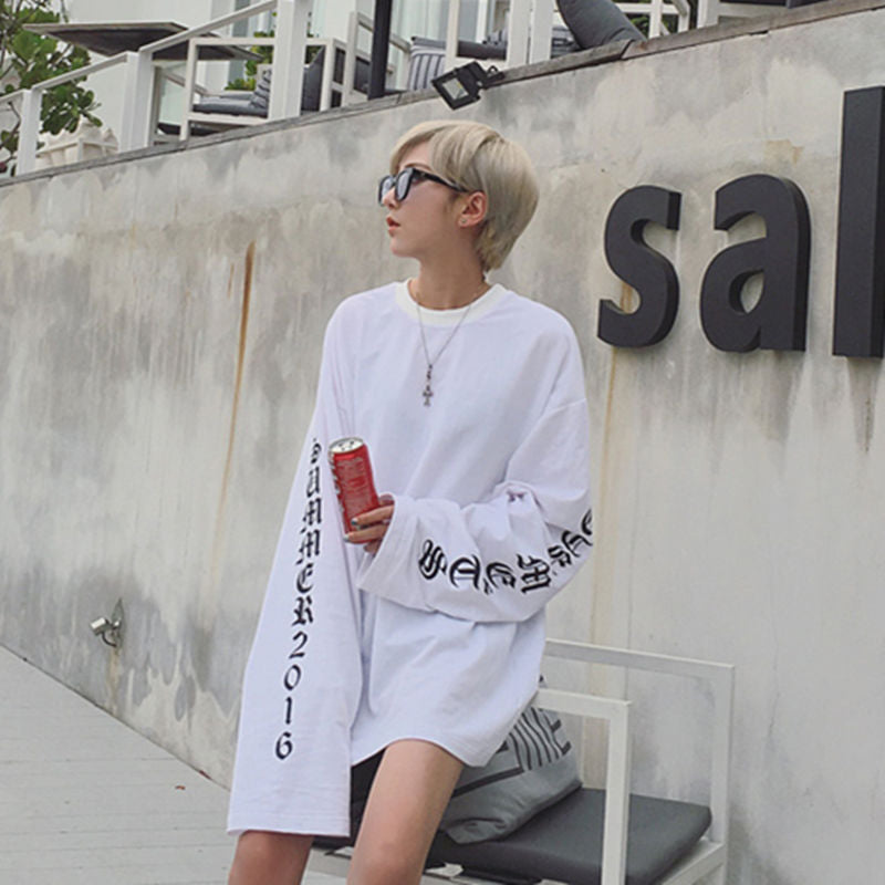 Oversized Long Sleeve Shirt White