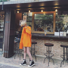 Load image into Gallery viewer, Oversized Long Sleeve Shirt Orange