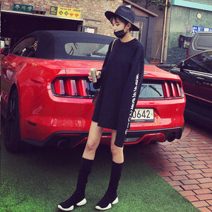 Oversized Long Sleeve Shirt Black