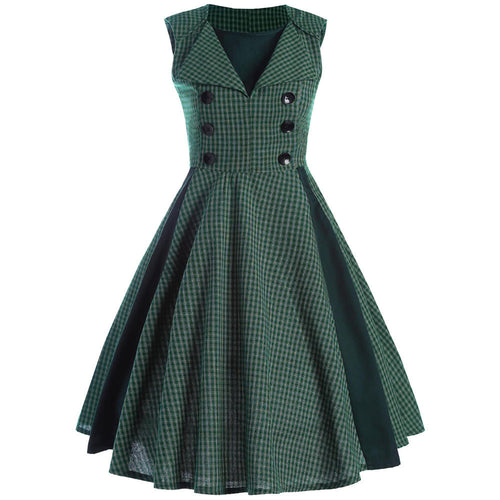 Retro Forest Green Dress