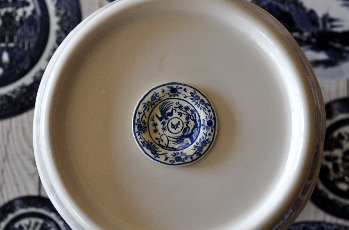 Blue & White Hand Painted VOC Plate by Pam Jones