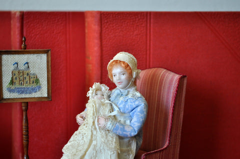 ESTATE TREASURE: Georgian Nursemaid with Baby by Jill Bennett - J Designs