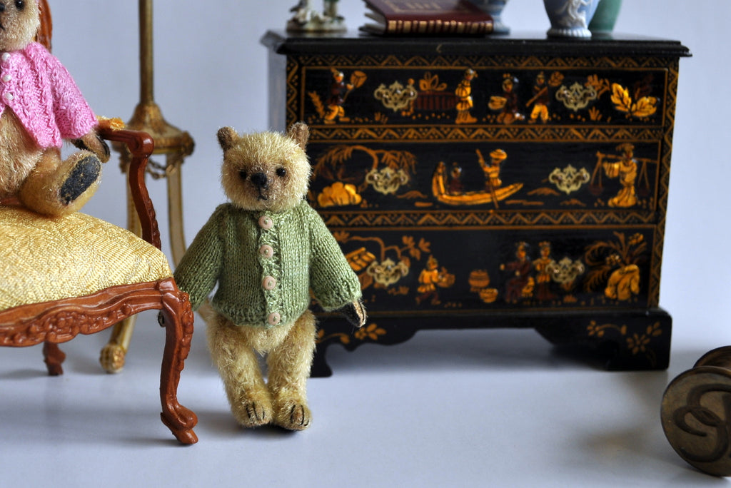 "Estate Treasure: Fully Jointed and Dressed Teddy Boy ""Laurent"" by Anna Braun"