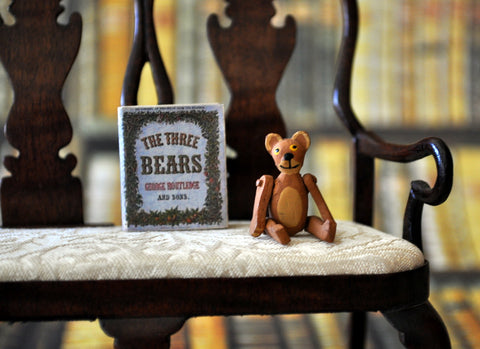 ESTATE TREASURE: Hand Painted Fully Jointed Wooden Teddy