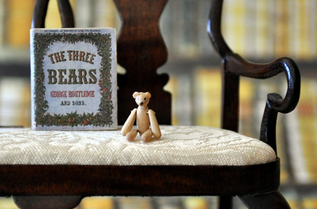 ESTATE TREASURE: Tiny the Fully Jointed Wooden Teddy