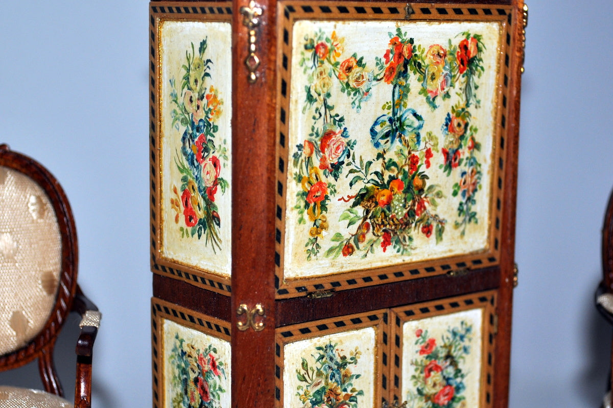 ESTATE TREASURE: Hand Painted Chinoiserie Standing Desk by Janet Reyburn