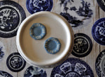 Blue & White Hand Painted Set of Two Wedgwood Plates #2 by Pam Jones
