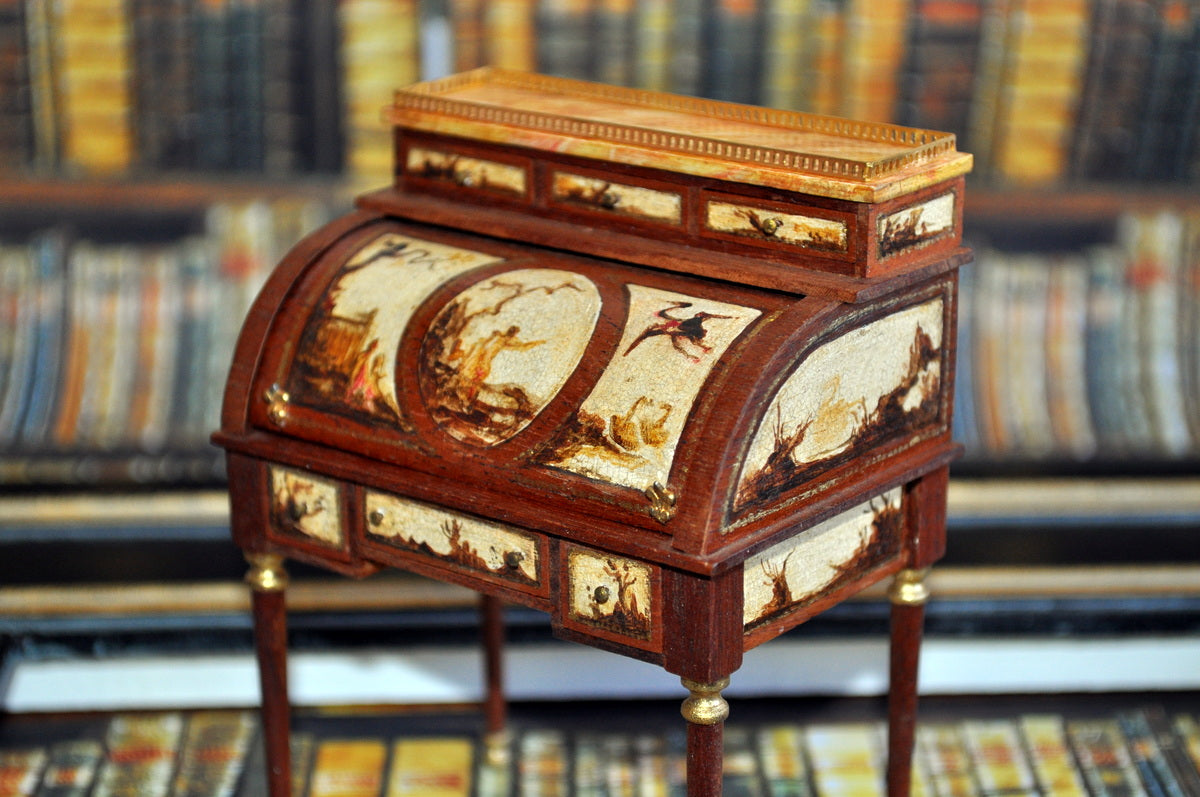 ESTATE TREASURE: French Chinoserie Rolltop Desk by Janet Reyburn