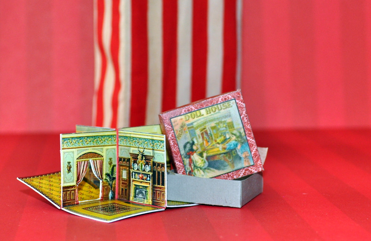 Elizabeth Plain Designed Folding Dollhouse by Rika Moon