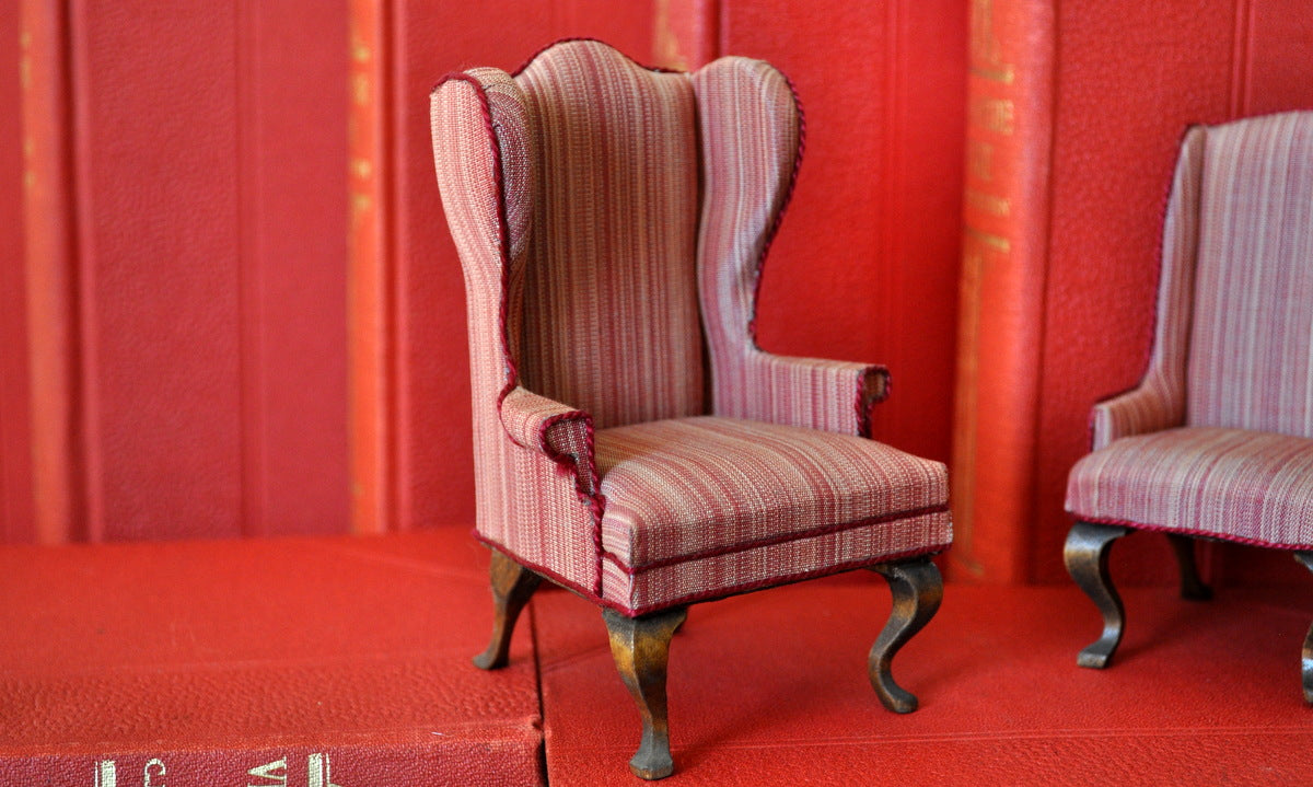 ESTATE TREASURE: Upholstered Wingback Chair Style No. I