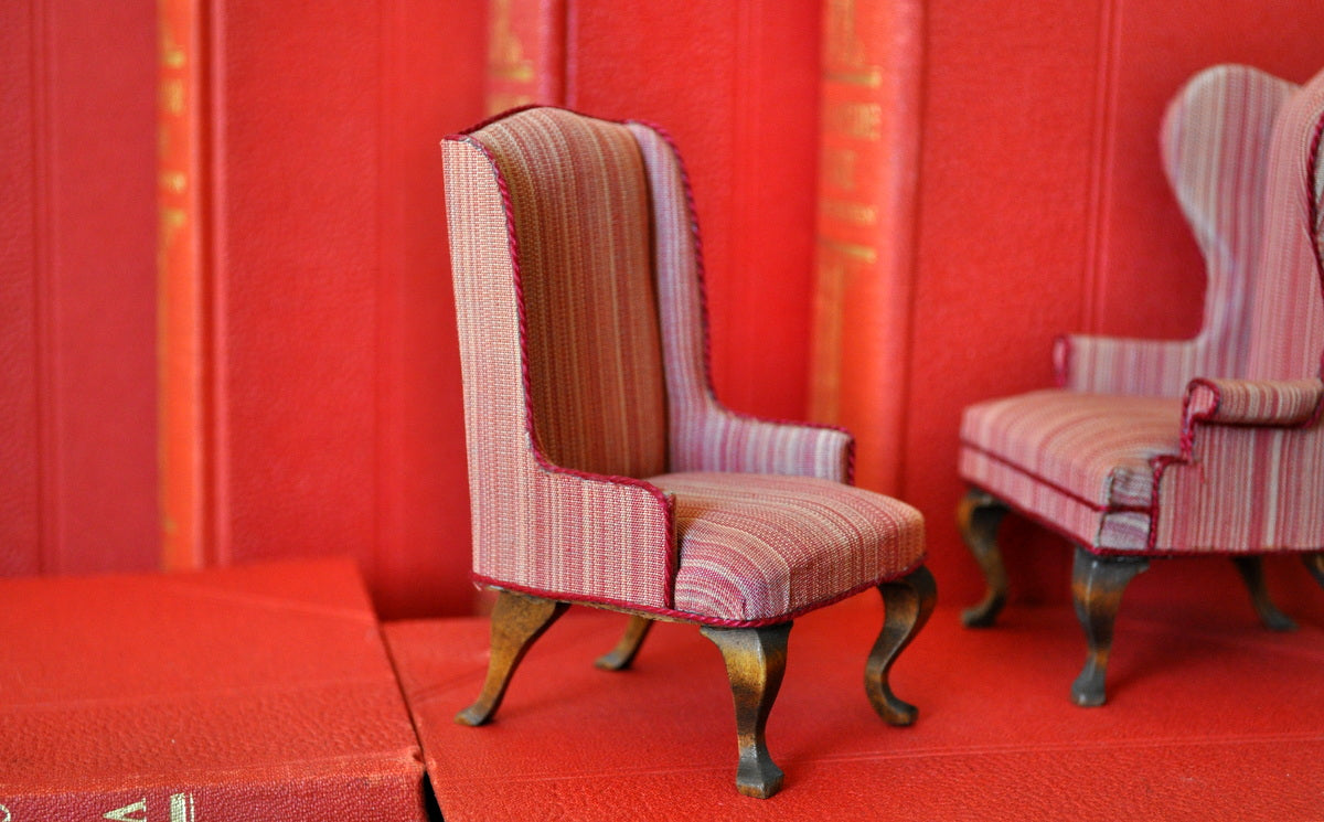 ESTATE TREASURE: Upholstered Wingback Chair Style No. II