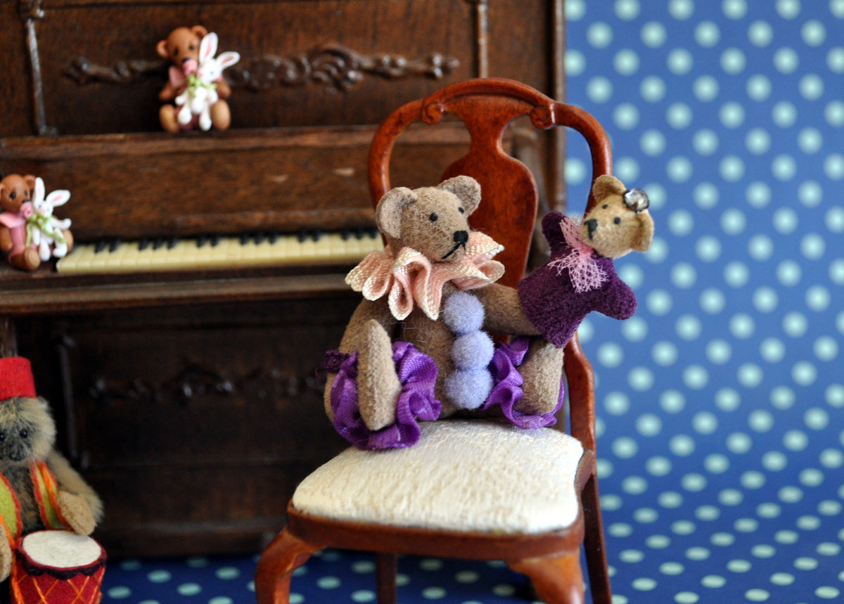 ESTATE TREASURE: Teddy with Glove Puppet by Lisa Lloyd
