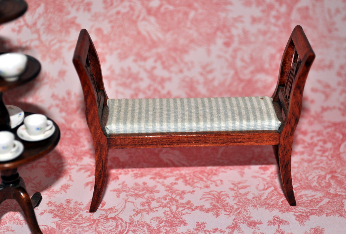 ESTATE TREASURE: Upholstered Bench with Arms