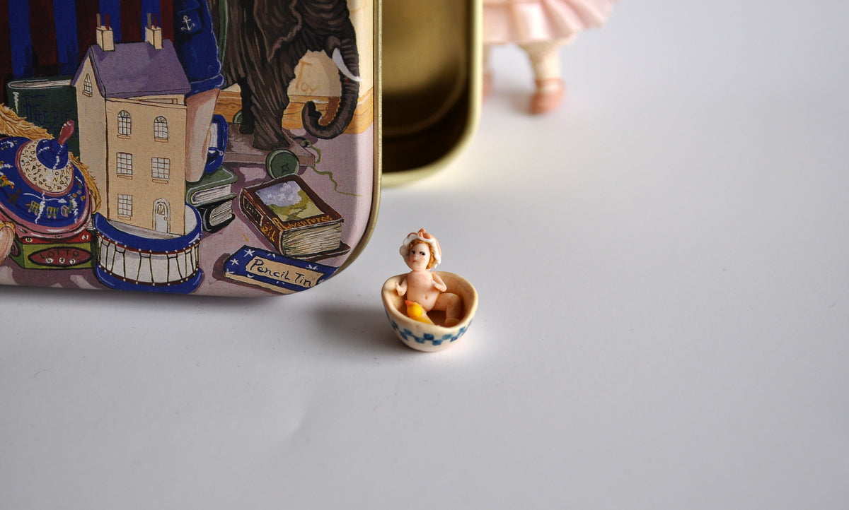 Estate Treasure: Tiny Bathing Dolly by Almundena Gonzalez