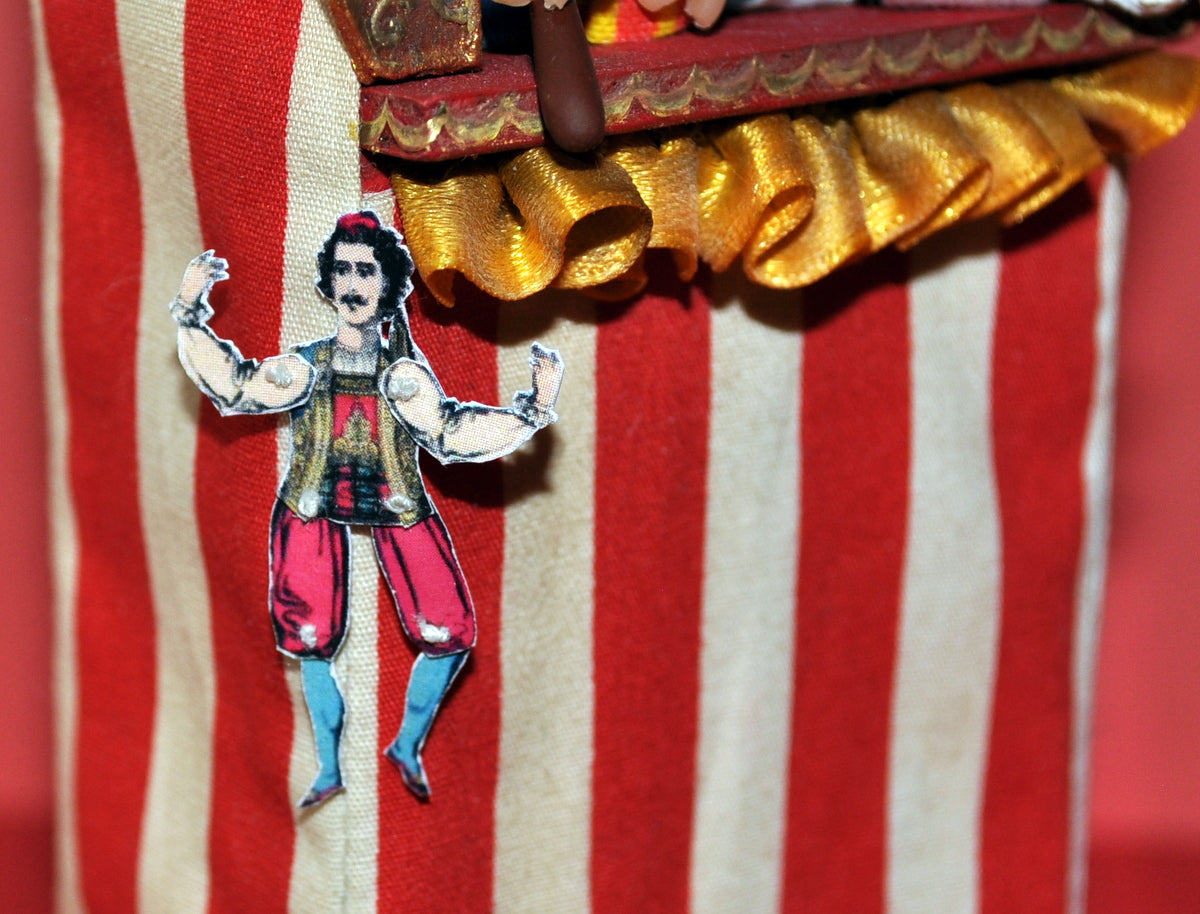 Male Circus Performer Paper Puppet for Display by Rika Moon