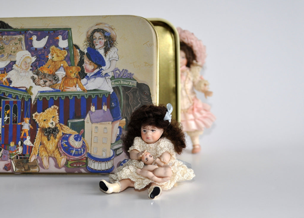 Estate Treasure: Fully Jointed Crying Doll with Her Broken Doll's Doll