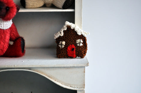 Gingerbread House Cushion by Jenny Tomkins