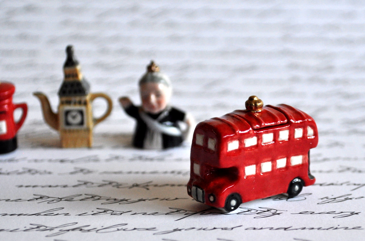Red Bus Cookie Jar by Elmarie Wood-Callander