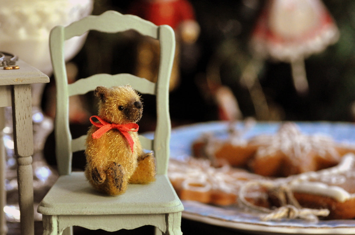 "Fully Jointed ""Gingerbread"" the Christmas Teddy by Anna Braun"