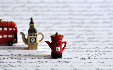 Red Post Box Teapot by Elmarie Wood-Callander