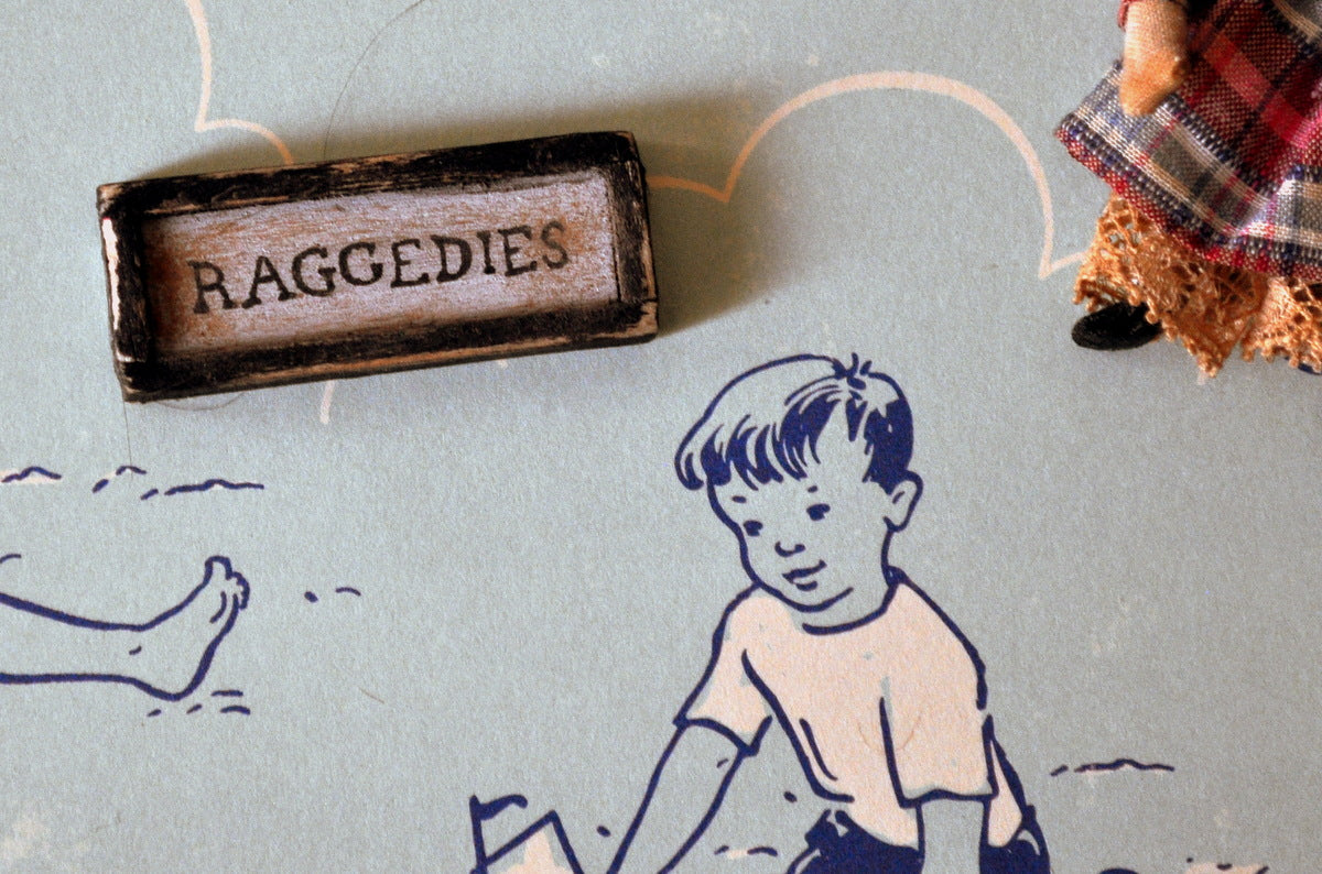 ESTATE TREASURE: Raggedies Sign by Carol Spence Sellner