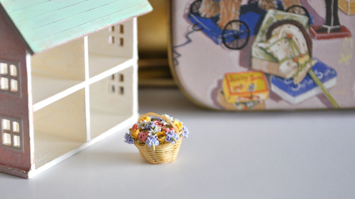Estate Treasure: Tiny Basket of Flowers by Manda Theart