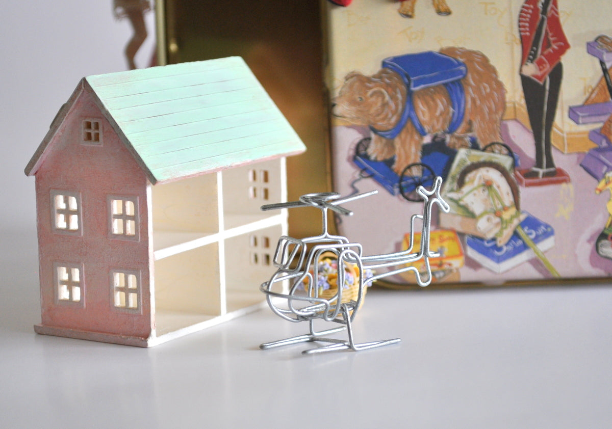 Estate Treasure: Wire Helicopter Toy