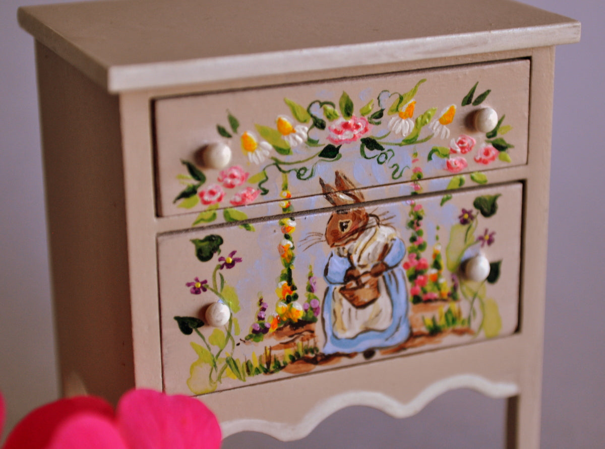 Estate Treasure: Storybook Bunny Bedside Table by Karen Markland