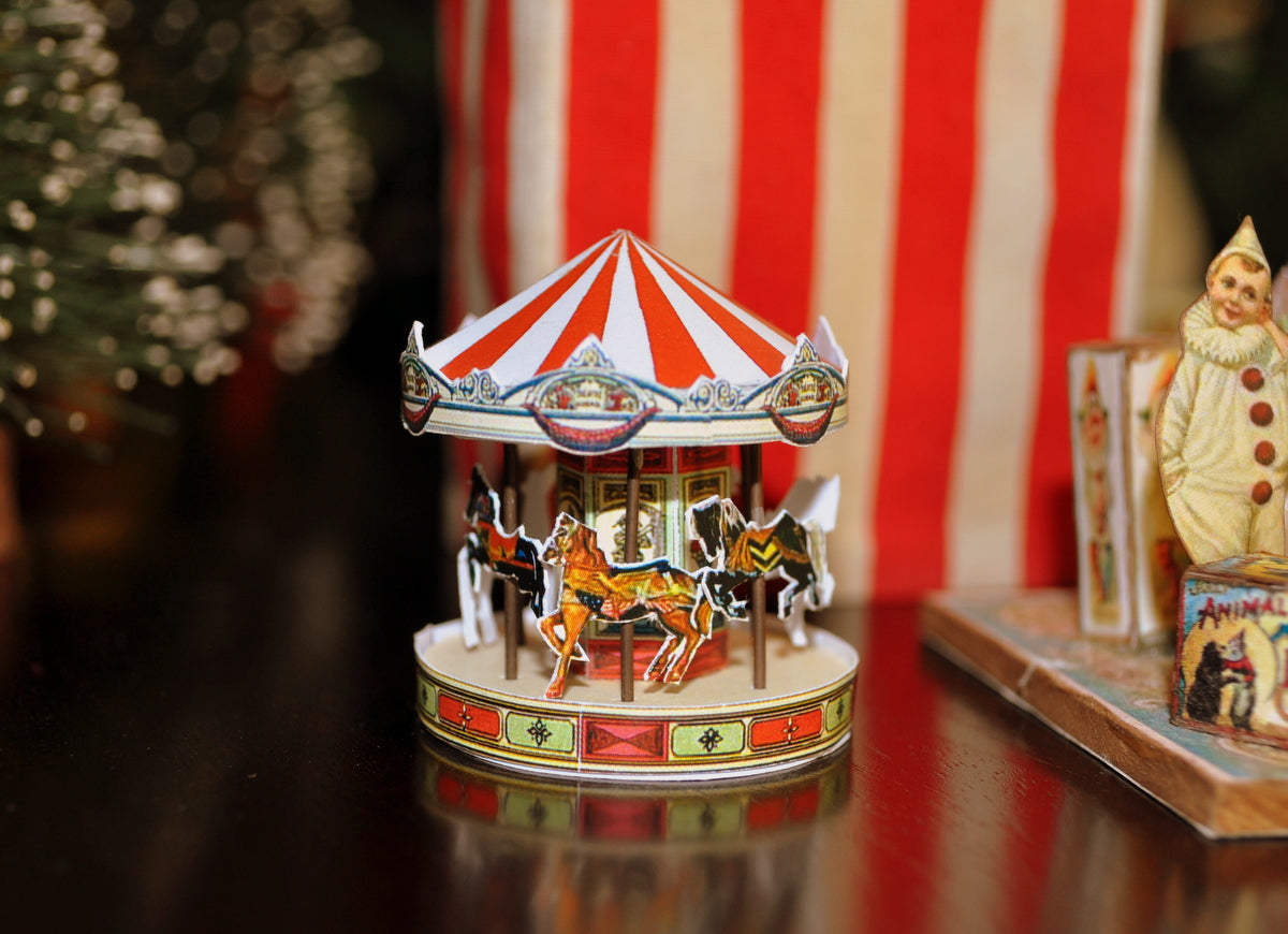 Non Working Toy Carousel by Rika Moon