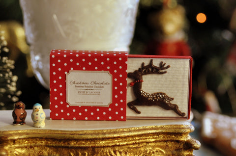 Boxed Christmas Reindeer Chocolate by Petit D'licious