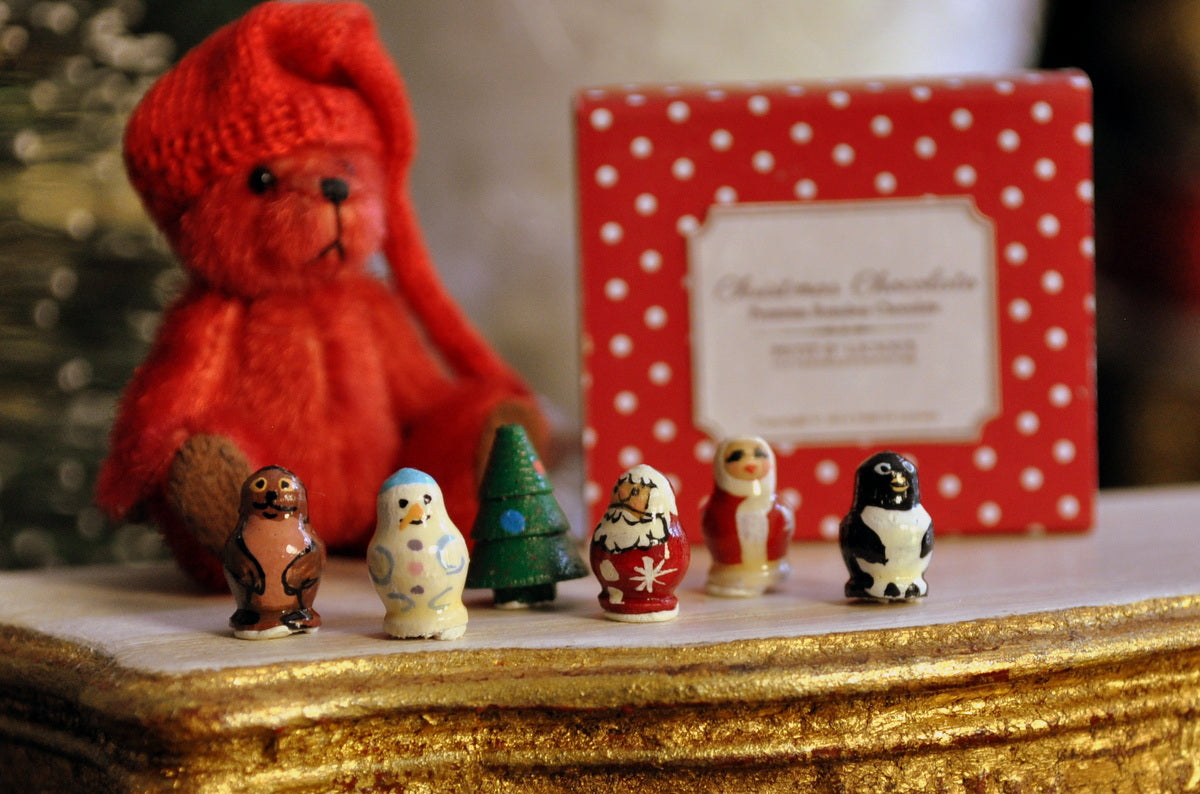 Tiny Hand Painted Christmas Russian Dolls by Sergey