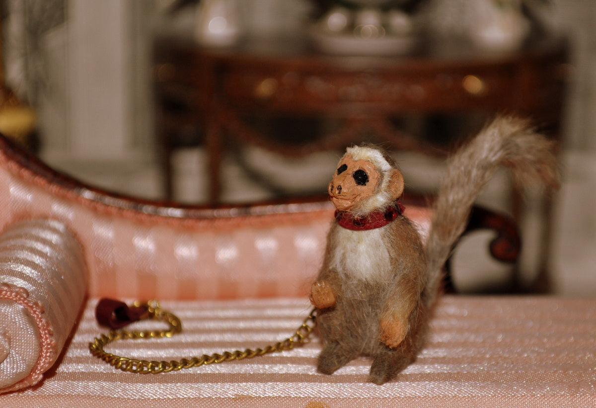 ESTATE TREASURE: Pet Monkey by Annie Willis - Fine Design