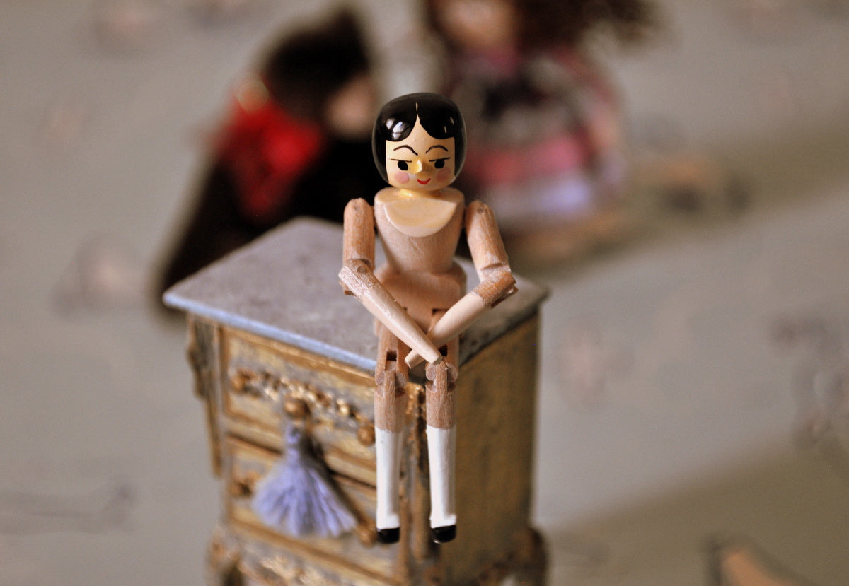ESTATE TREASURE: Fully Jointed Wooden Doll's Doll by Eric Horne
