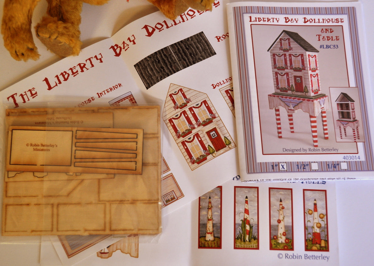 ESTATE TREASURE: Complete 1:12 Scale Kit of the Liberty Bay Dollhouse & Table by Robin Betterley