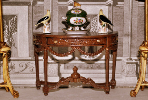 ESTATE TREASURE: Ornate French Hall Table by Bespaq