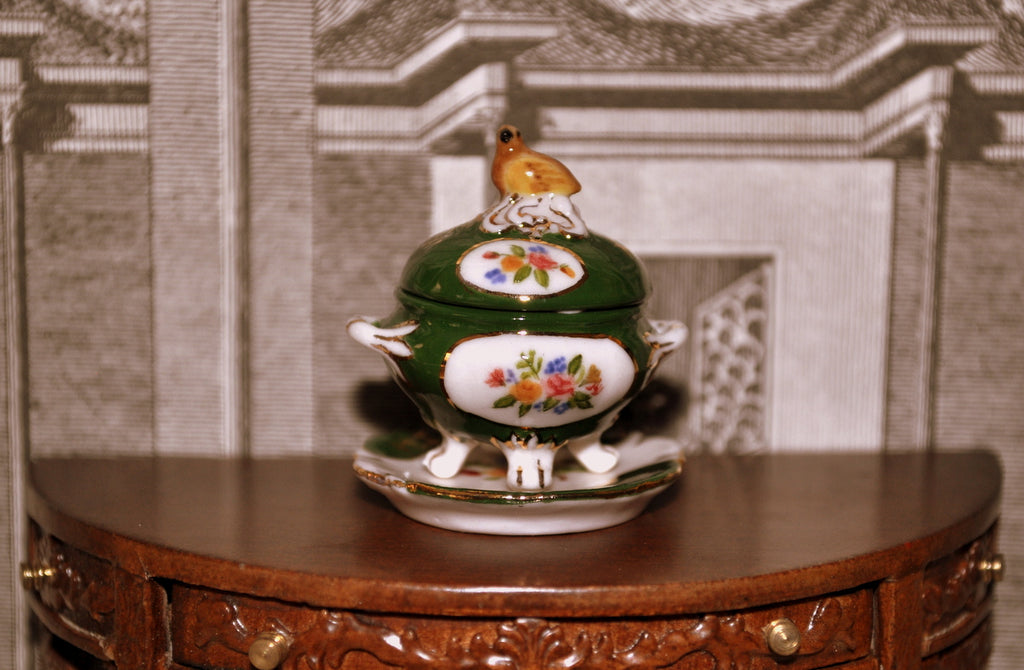 Hand-painted Bird Tureen by Elmarie Wood-Callander