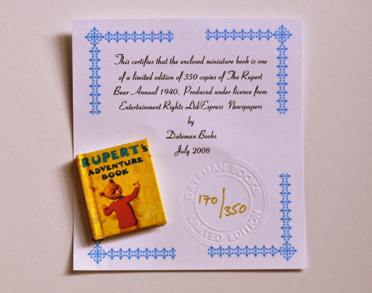ESTATE TREASURE: Rupert Annual 1940 by Dateman Books